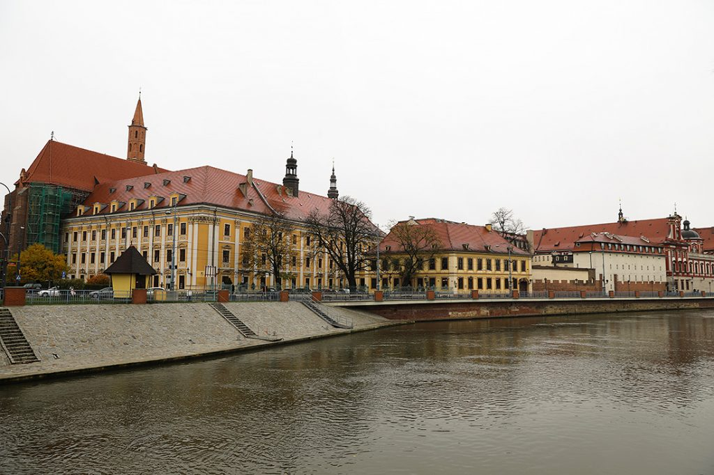 Река в городе Вроцлав