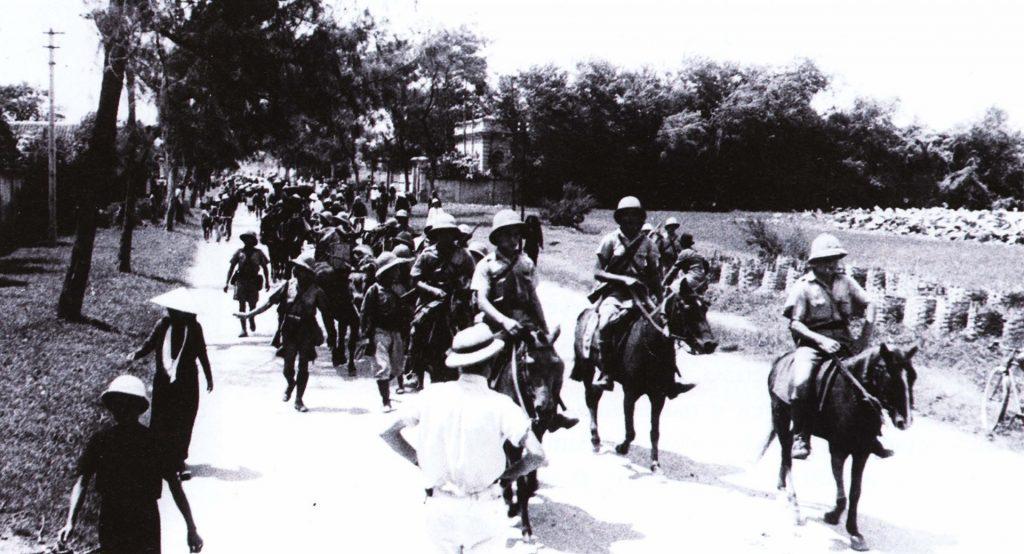 французские колониальные войска покидают Хайфон