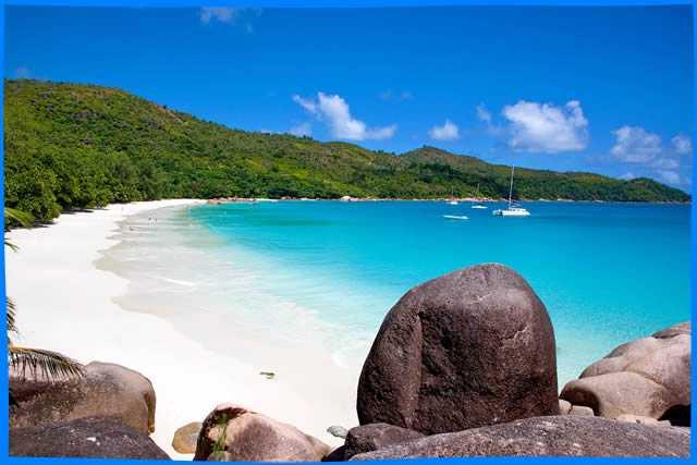Сейшелы: остров Праслен, пляж Ансе Лацио