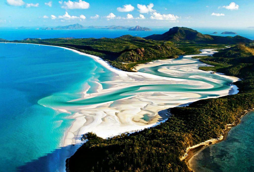 Австралия: остров Уитсандей, пляж Уайтхэвен-Бич