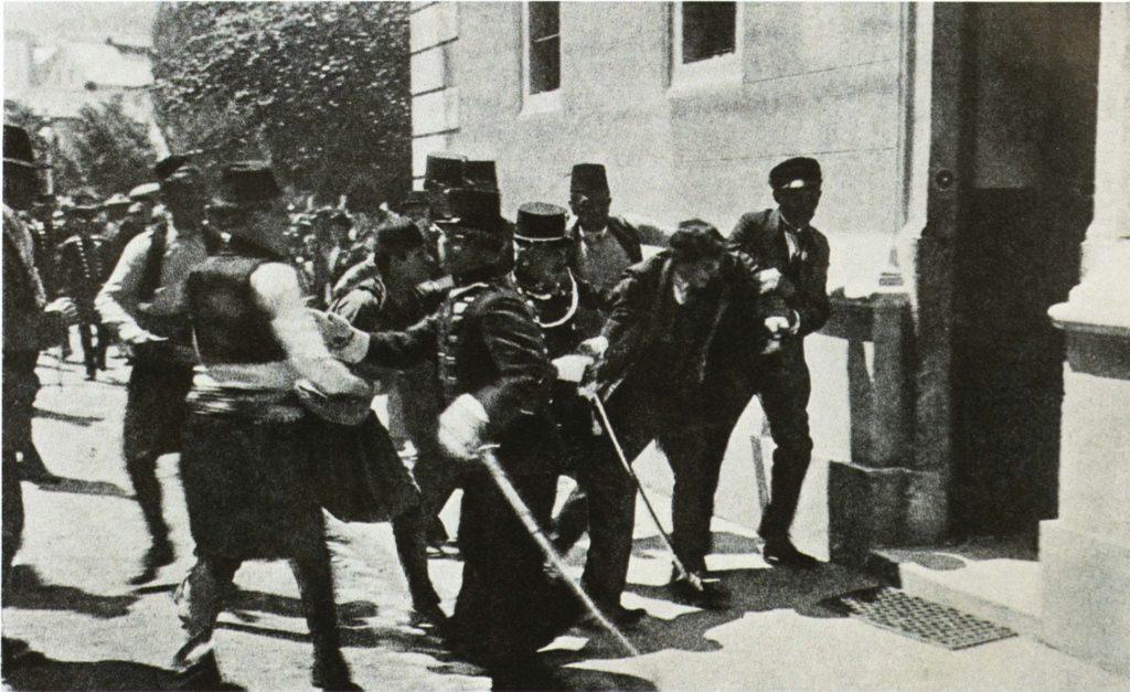 Убийство в Сараево наследника трона Австро-Венгерской империи Франца Фердинанда