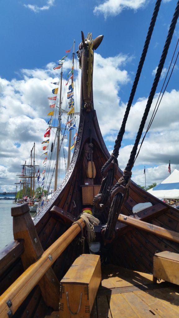 Драккар викингов Норвегии