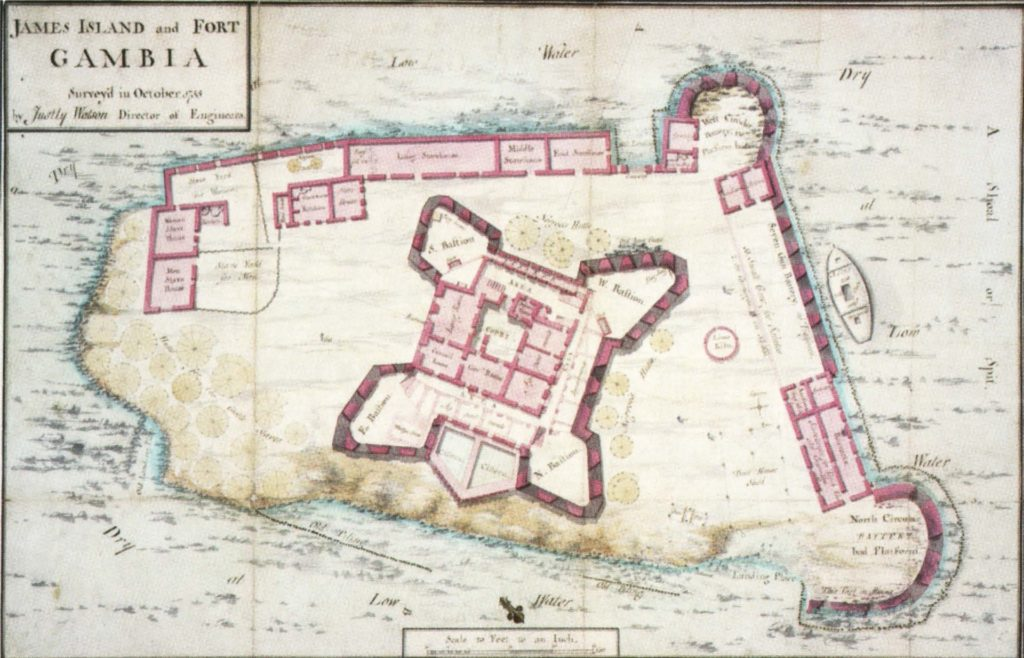 карта острова Джеймс Гамбия