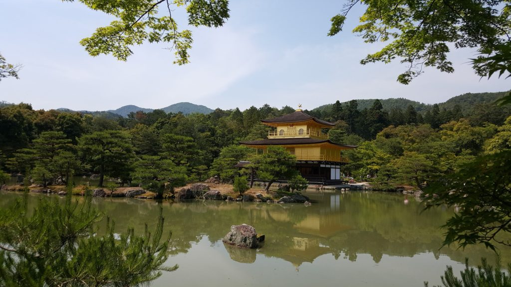 Кинкаку-дзи храм в Японии